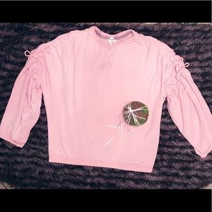 💰Pale Rose Three Quarter Sleeve Ruched Top💰